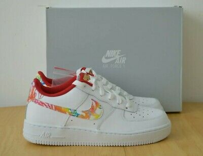 Nike Air Force 1 BG Chinese New Year 2020 White Sneakers Size UK 4.5 EU 37.5