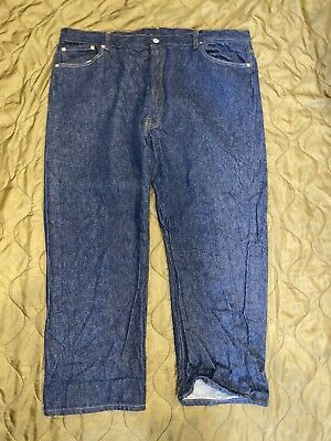 Vintage Levis 501 Jeans, Indigo 1980's Made In USA, 50 x 30, Large Size