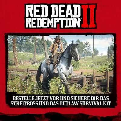 Red Dead Redemption 2 Streitross & Outlaw Survival Kit DLC Code Playstation4 PS4