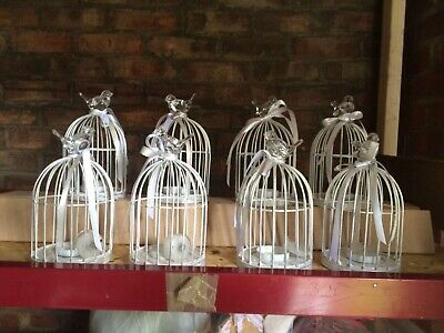 8x Wedding Bird Cages Approximately 20 Cm Tall