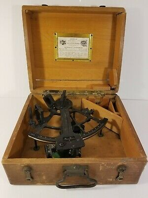 Vintage WW2 Era Leupold and Stevens U. S. Maritime Commiss Sextant mfd. 1945.