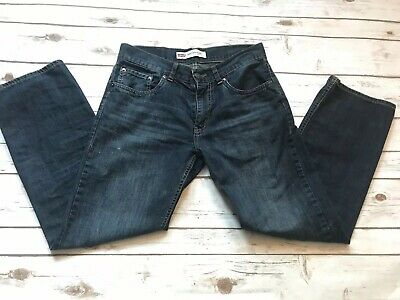 Levis 505 Boys 16 Regular Dark Wash Blue Jeans Straight Leg Classic Fit