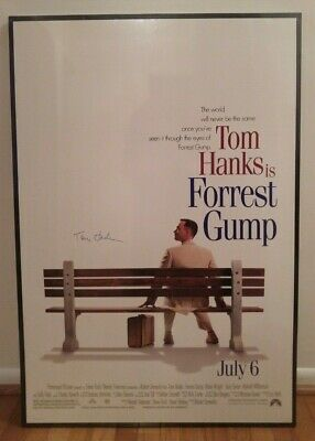 Tom Hanks Signed Forrest Gump 26 3/4 X 39 3/4 Full Size Movie Poster With Coa