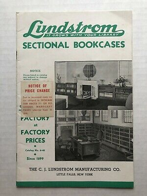 1948 Lundstrom Sectional Bookcase Catalog with Lots of Pictures