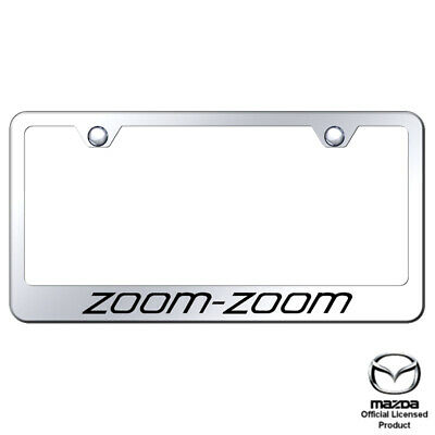 Zoom Zoom Laser Etched Frame-Mirrored