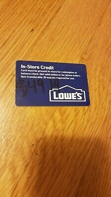 $49.14 Lowes In-Store Merchandise Credit READ DESCRIPTION CAREFULLY