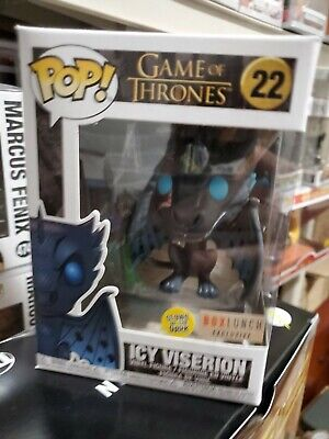 Funko pop! Game Of Thrones ICY VISERION (GITD) Box Lunch Exclusive #22 NEW
