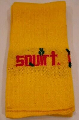 Vintage Squirt Soda Scarf Advertisement Collectible Yellow