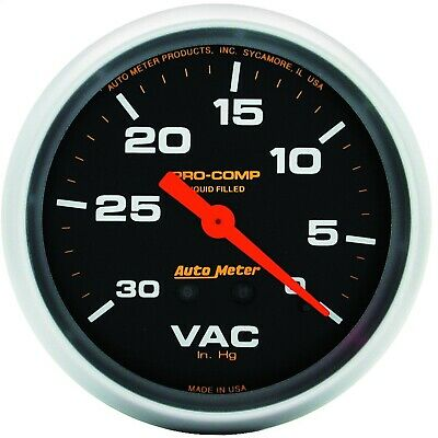AutoMeter 5484 Pro-Comp Mechanical Gauge with Liquid-Filled Vacuum