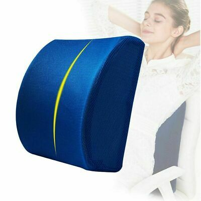 Lumbar Cushion Back Support Travel Pillow Foam Car Seat Home Office Chair US