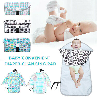 Waterproof Portable Baby Diaper Travel Home Change Changing Mat Pad Nappy Bag