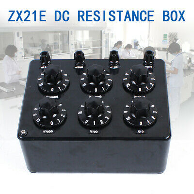 Lab Decade Resistor Resistance Box ZX21E Rotary DC Resistance Adjustment Box NEW