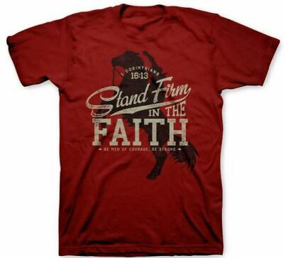 Christian T Shirts For Men Stand Firm In The Faith Cheap Under $10 Closeout Sale