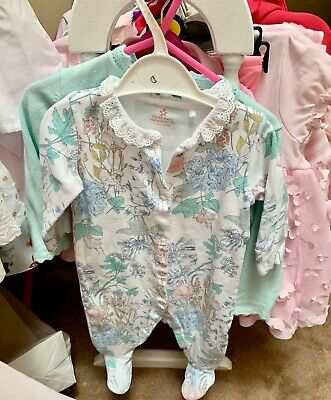 Bundle Baby Girl Clothes 0-3 Months X 12 Items