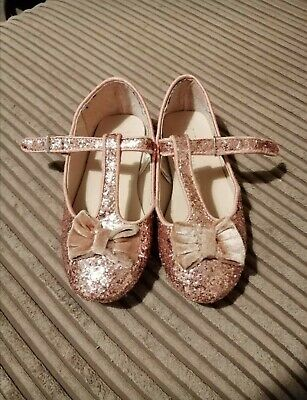 Girls Pink Sparkly Party Shoes - Infant Size 10