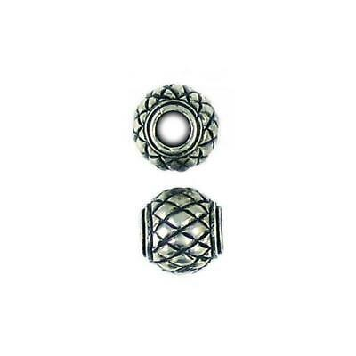 LARGE SPIRAL FINE PEWTER TOGGLE SET 27x30x30x10x6mm