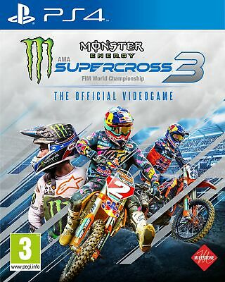 Monster Energy Supercross The Official Videogame 3 (PS4) Brand New & Sealed