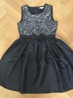 Girls NEW Debenhams Black Sequin Party Dress - age 13 years