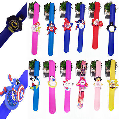 Boys girls SuperHero cartoon slap silicone fashion wrist children kids watch