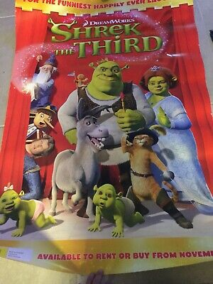 Shrek The Third  Original DVD movie poster one sheet size