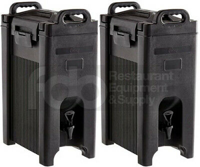2 PACK 5 Gallon Black Insulated Coffee Tea Hot Cold Beverage Drink Dispenser
