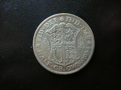 1934 george v h/crown worn but very detailed coin