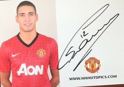 Chris Smalling, Manchester United,  hand signed photo / autograph with COA