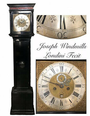 Early 18th Century Ebonised Longcase Clock by Joseph Windmills