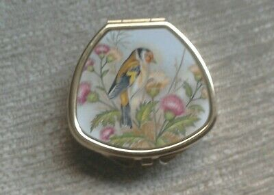 Pillbox. Bird picture. 3 Sections.