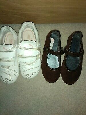 Bundle: Girls puma shoes and leather shoes size infant 8 (25 euro)
