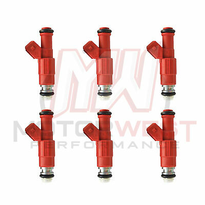 6 Set of Six Flow Matched Refurbished Fuel Injectors # 0280155735 Ford Bosch