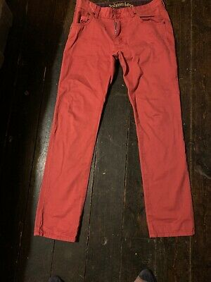 Johnnie B Boys Red Trousers 32reg Great Condition