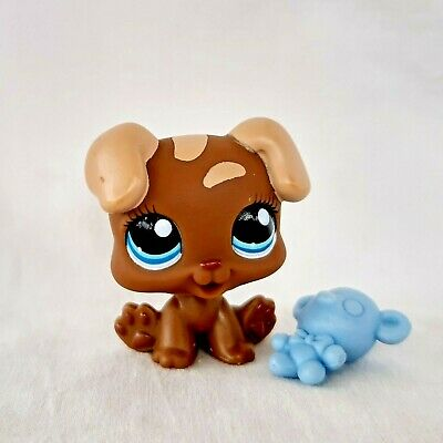 Littlest Pet Shop 1052 Boxer Puppy Dog LPS Toy Figure HASBRO Rare Baby Brown