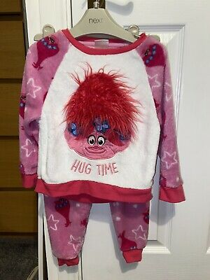 Girls Fluffy Trolls Poppy Pyjamas 3-4 Years
