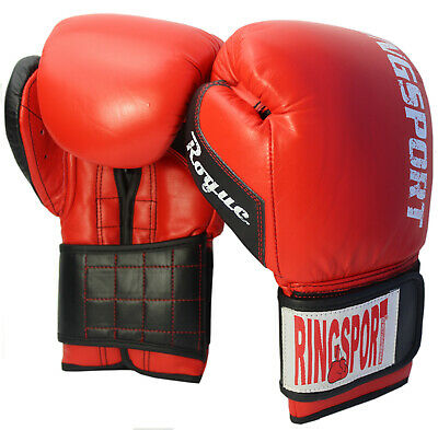 Boxing Gloves Sparring Training Bag Punch Pad MMA Kick 12oz Leather Cowhide Mitt