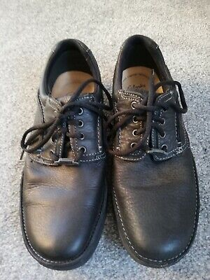 Clarks Mens Leather Black Active Air Gore Tex Shoes UK Size 8