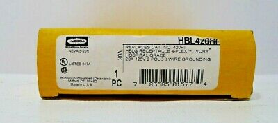 Hubbell HBL420HI Wiring Device Receptacle 4-Plex  20A 15V (Ivory)