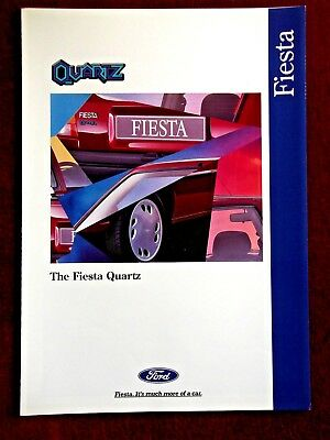 FORD FIESTA QUARTZ 1995 Special Edition Sales Brochure