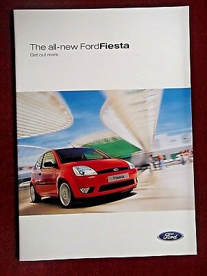 The all-new FORD FIESTA  2002 Sales Brochure