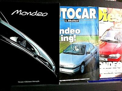 FORD MONDEO Launch Sales Brochure 1993 - PLUS 2 Road Tests