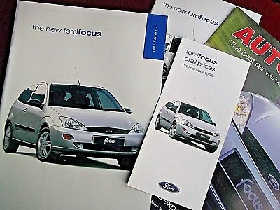 FORD FOCUS Mk I - Set of Launch Brochures 1998