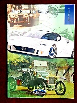 FORD CAR RANGE CATALOGUE 1996 Edition 2 - Includes Escort RS