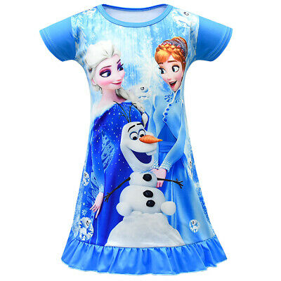 Girls New Frozen 2 Princess Anna Elsa Fancy dress Pyjamas Nightie Pjs 3-8 years