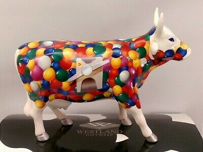 Cow Parade Figurine Sculpture #7307 Gum-Ball 2002 By Westland Giftware Repaired