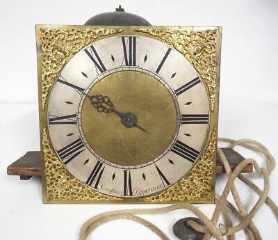 Longcase Clock Movement Single Hand Grandfather Clock 10 Inch Brass Dial & Bell