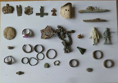 Job Lot Of British Metal Detecting Finds-Roman To Modern