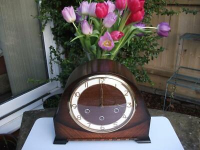 Smiths Enfield 8 Day Westminster Chiming Mantel Clock. 1954. Fully Overhauled.