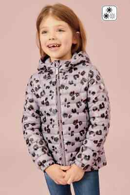 NEXT Lilac Print Jacket Girls Animal Print Quilted Coat 6-7 8-9-10-11 Years BNWT