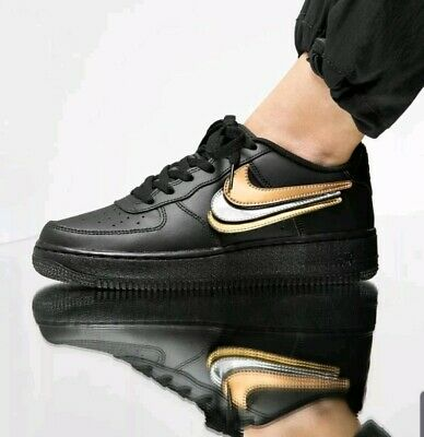 Nike Air Force 1 LV8 3 Grade School Trainers UK Size 5.5 Youth Black BQ9986 999