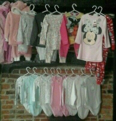 Girls clothes bundle 2-3 years sleepwear Pyjamas Vests Dressing Gown ~ Next